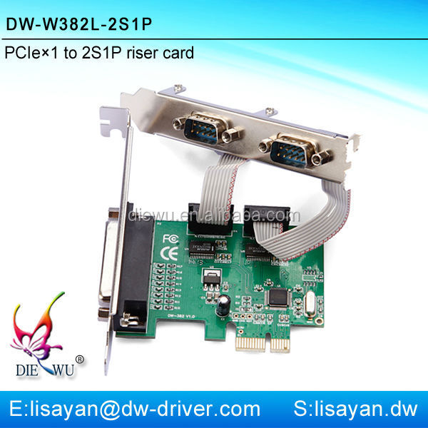 2014 hot pcie to 2 serial 1 parallel port card