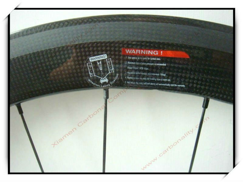 50 mm carbon clincher wheels