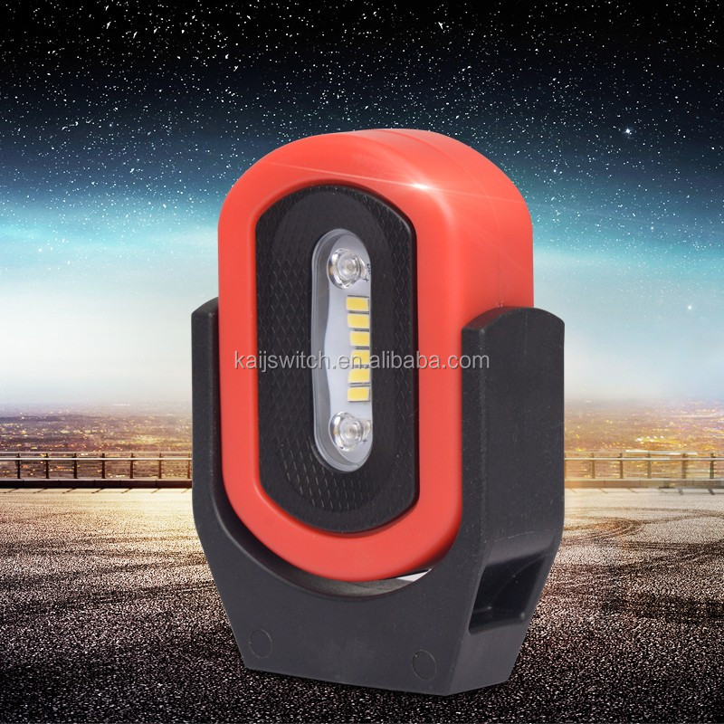 Rechargeable SMD LED work light can be rotatable 360 degree with magnet based