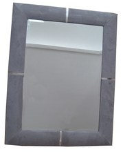 Faux Leather Wall Framed Mirror