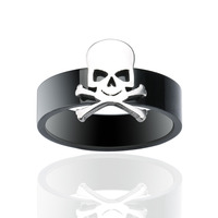 Tribe Gothic Skull Biker Stainless Steel Men's Ring Skeleton Bone Hand Jewelry