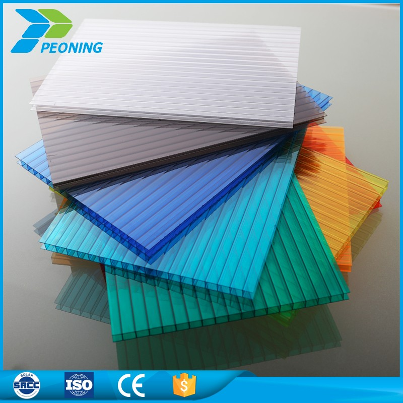 Unbreakable solar polycarbonate sheets hollow pc sheet