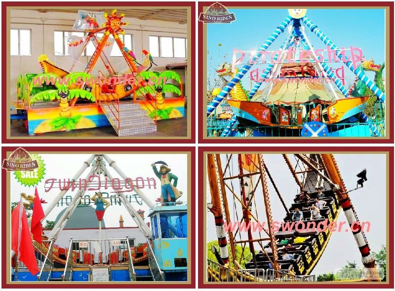 16-40 Seat Amusement Park Amusement Viking Pirate Ship Rides For Sale