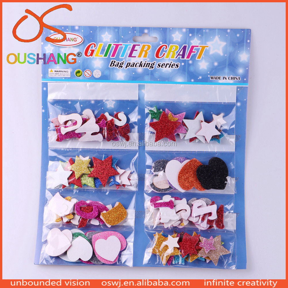 Oushang Preschool Educational Toys Glitter EVA Letter Shape