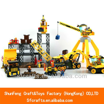 New type modern city larger building blocks toys