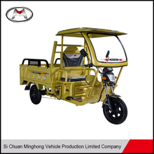 Popular 1200W Tipper China Cargo Tricycle With Cabin