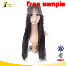 High quality 7A brazilian virgin hair weave beautiful free lace wig samples,red human wigs natural