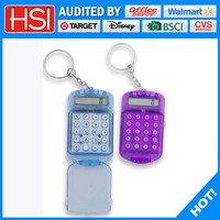 plastic small size key ring calculator