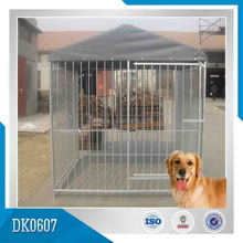 hot dipped galvanized metal dog house/ dog kennel with A-frame top