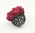 Diamante Scrunchie Type Crochet Hair Snood Bun Net Cover with Small Claw Clips attached Handstitched Hair Holder Decor