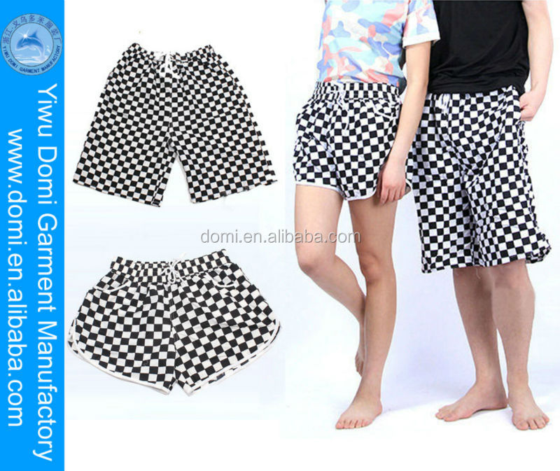 Custom always fashion white and black square cheap swim shorts,sexy men and women photos short,men's shorts