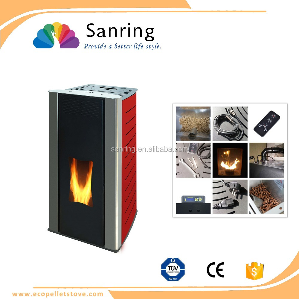 18 kw water heating pellet stove with ceramic glass and boiler