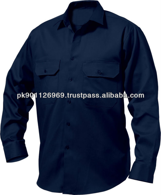 Long Sleeves Cotton Drill Work Shirts/ Industrial work shirts & Uniform
