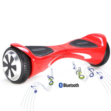 ul2272 approved two wheels mini self balancing scooter 6.5 inch red with LED light and bluetooth speaker electric hoverboard