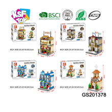 kids intelligent plastic brick toys play set small block building with light