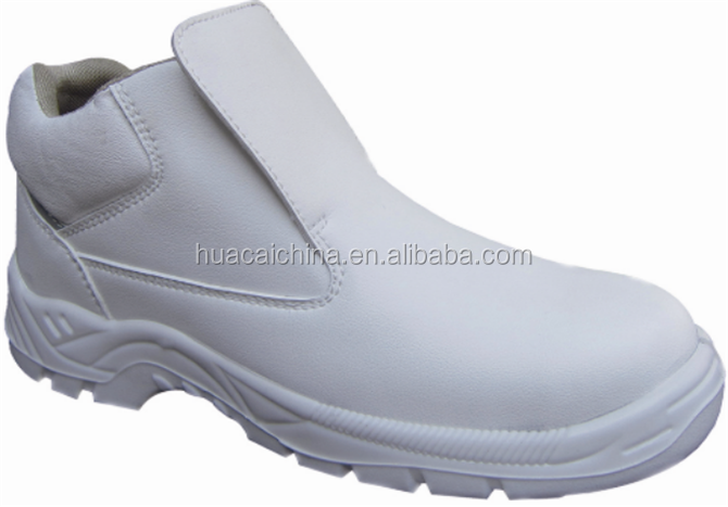 Food industry executive white micro-fiber safety shoes en345 for chef