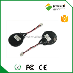 cr2032 cmos battery with wires and connectors 3V lithium button battery