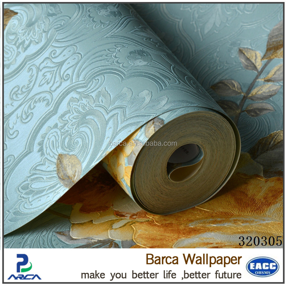 Barca 3203 series korean vinyl wallpaper printed wallcovering modern home decor