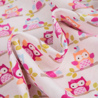 Fresh and lovely 100 % cotton printed organic flannel fabric for baby blanket