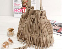 D35110A 2014 EUROPE FASHION LADIES TASSELS SHOULDER BAGS