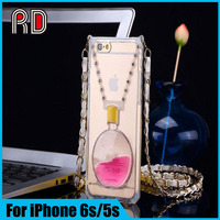 China factory OEM Luxury Perfume bracket silicon Case for iPhone 6s/5s/6 Plus with stand holder