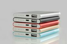 slim colorfull travel power bank for smart phone charger mobile battery power bank 4000mah HE-401[HONGYI]