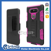 Mobile phone Strong Rugged Hard 3IN1 Robot holster case for LG V20 cover with kickstand