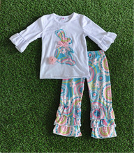 HANDMADE 100% COTTON GIRL BOUTIQUE EASTER RABBIT OUTFITS