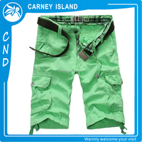 Create your own brand mens custom cotton cargo shorts