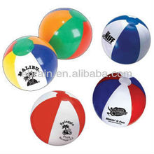 Six Color PVC Inflatable Beach Ball for Promotion