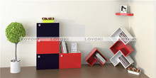 Wall decor display wood cube shelf the newest single bed