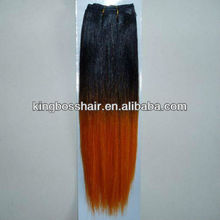 machine weft hair weaving ombre two tone hair extensions double weft tracks