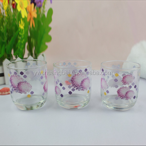 8oz Colored Printing Class Cup Tumbler Glass Cup Wholesale