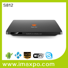 Quad Core 2GB Ram Amlogic S812 Bluetooth MX8 Android TV Box 4K Support