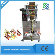 triangle plastic bag packaging machine for milk/popcorn/beans