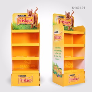 Custom Cardboard Products Display Stand, Corrugated Carton Floor Display Rack, Paper Display Stand Shelf Unit