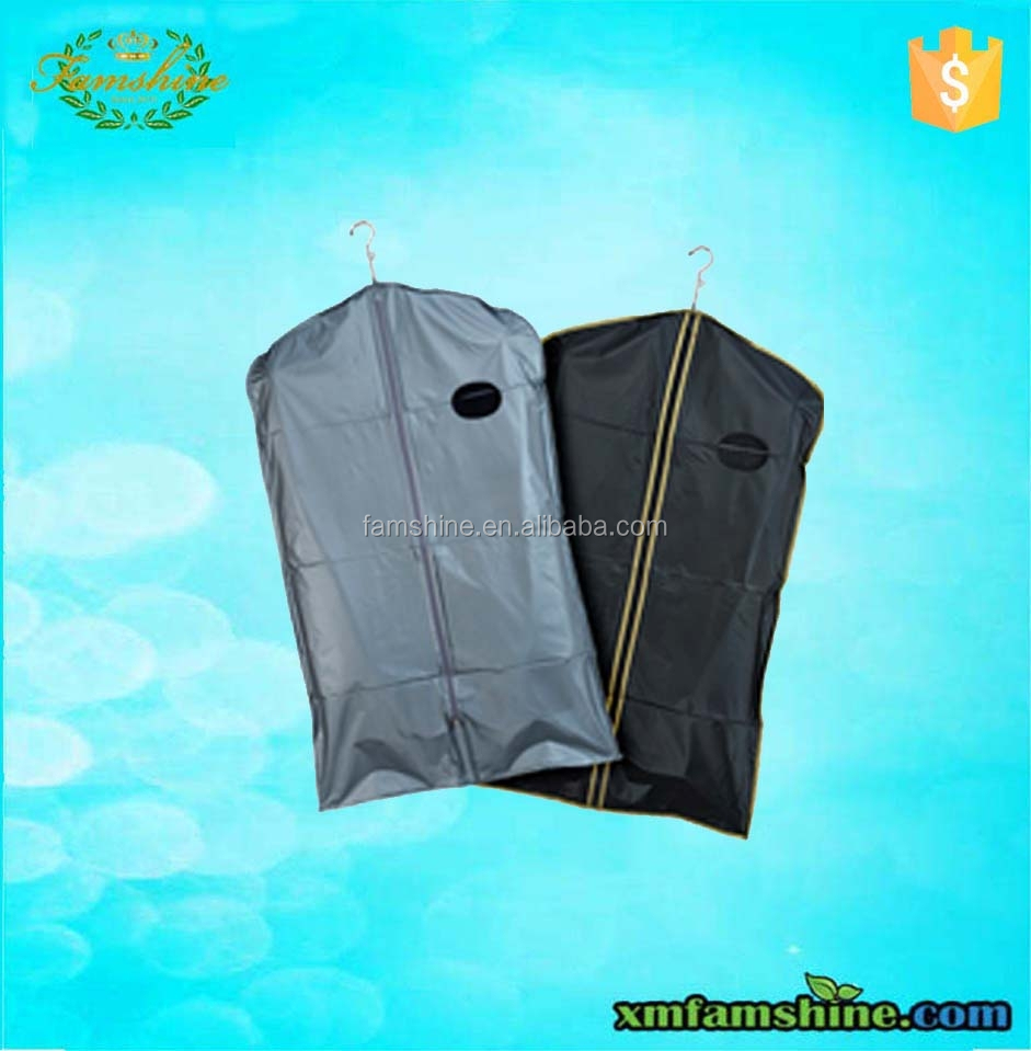 customized zippered peva suit cover/garment bag