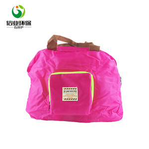 210D polyester foldable bag luggage bag  for shopping promotional