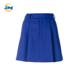 New fashion ladies wool silk blend flare sexy girl mini skirt