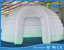 inflatable igloo dome with led lights /inflatable lighted igloo tent / igloo dome for sale