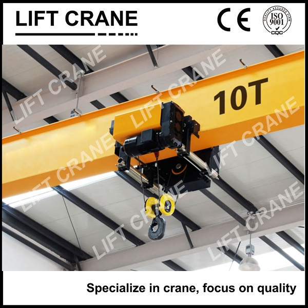 Newly designed 10 ton overhead travelling crane,low headroom electric hoist single girder bridge crane