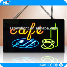 RGB Remote control LED resin sign / LED open sign / LED luminous resin sign for bar and shop