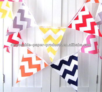 Flag Bunting, Chevron, Navy Blue, Orange, Red, Pink, Grey, Yellow, Wedding, Baby Nursery Decor, Photo Prop, Birthday Party