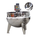 Vertical type steam jacketed cooking pot for jam, jelly and crush juice