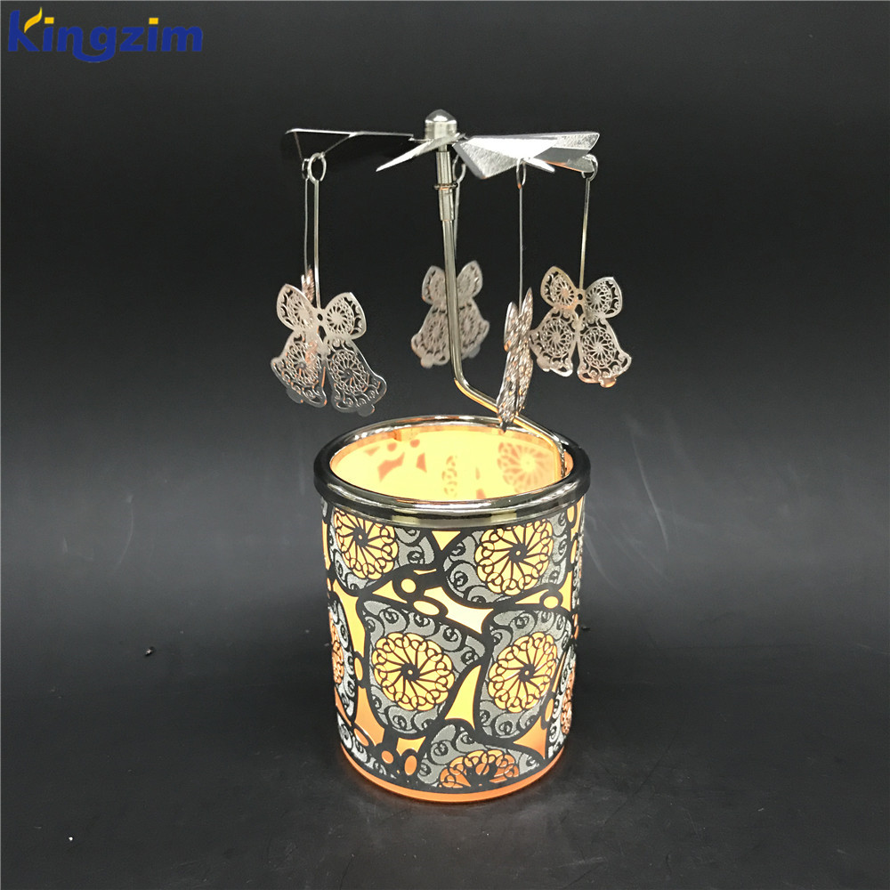 2017 Fine gorgeous rotating lantern candle holder with wire crafts