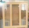 Canadian red cedar, abachi, hemlock indoor infrared sauna