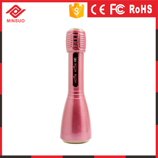 Bluetooth Karaoke Microphone Speaker with rubber finish