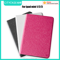 city&case silk grain fabric leather case for ipad mini 1/2/3