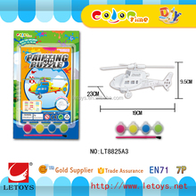 wholesale 3D painting paper puzzle helicopter