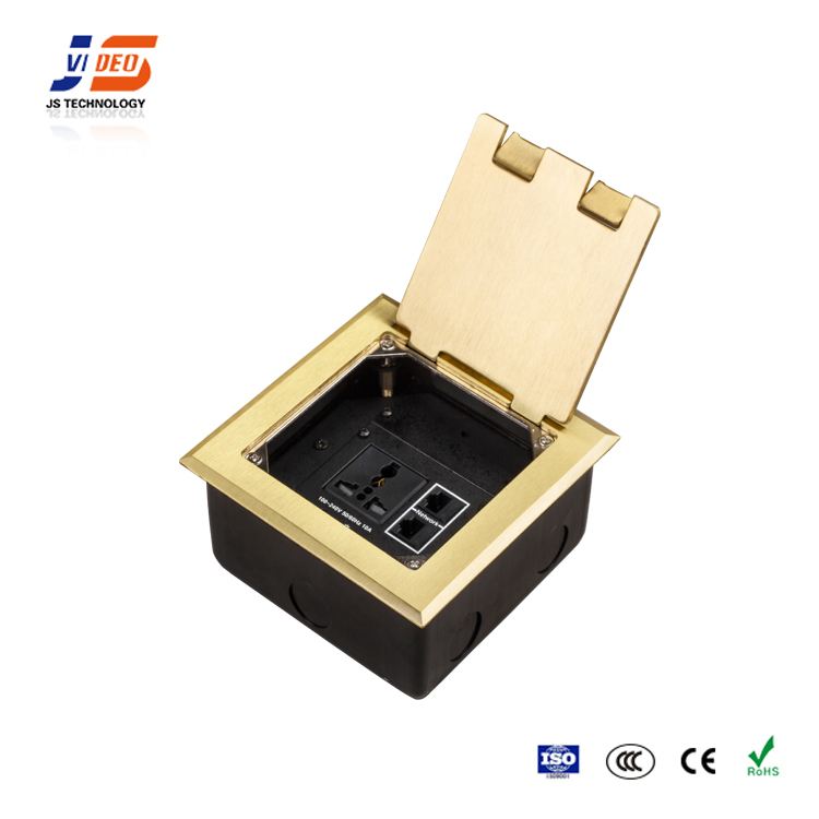 JS-DC146 with CE,RoHS,CCC electrical panel multimedia rj45 aluminum outlets floor box